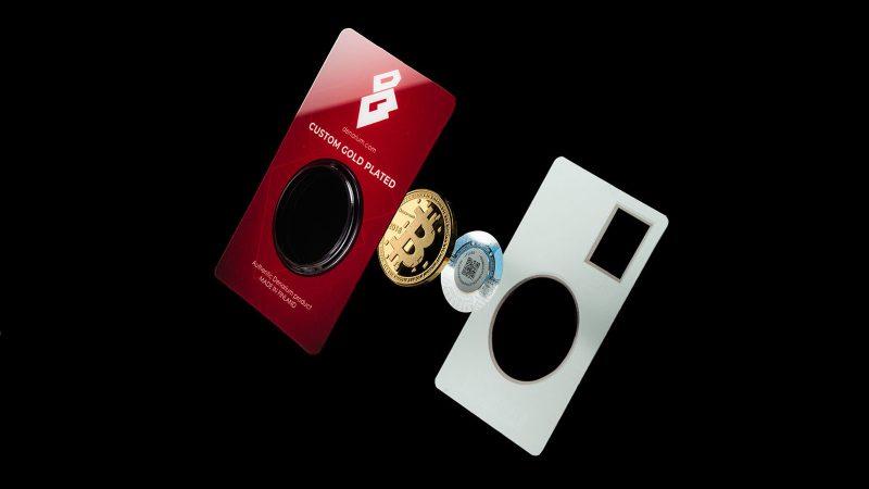 denarium physical bitcoin gold coin