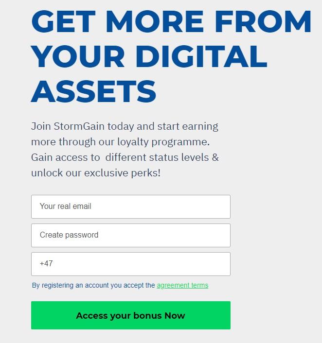 stormgain registration