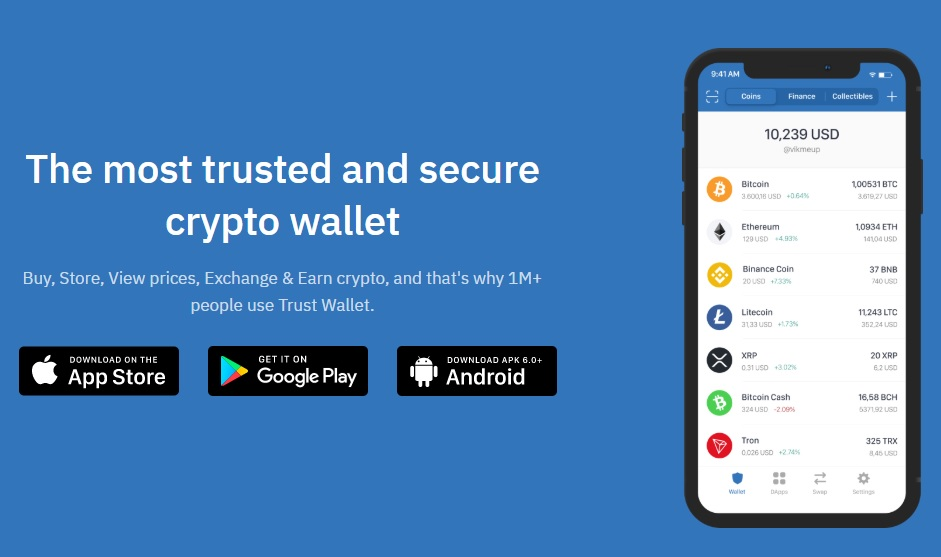 Trust Wallet - a mobile cryptocurrency wallet