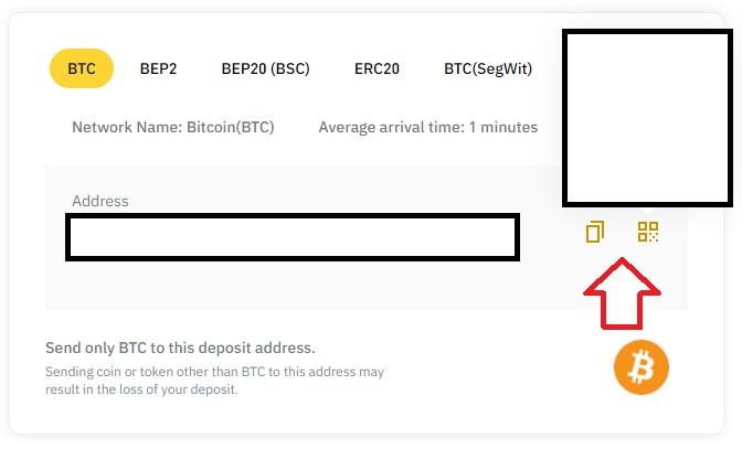 binance btc deposit