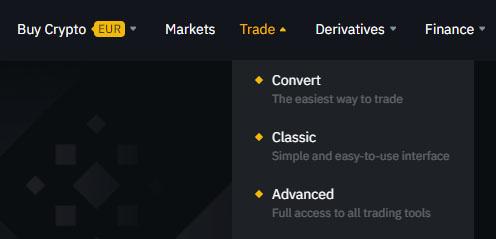 binance trade crypto