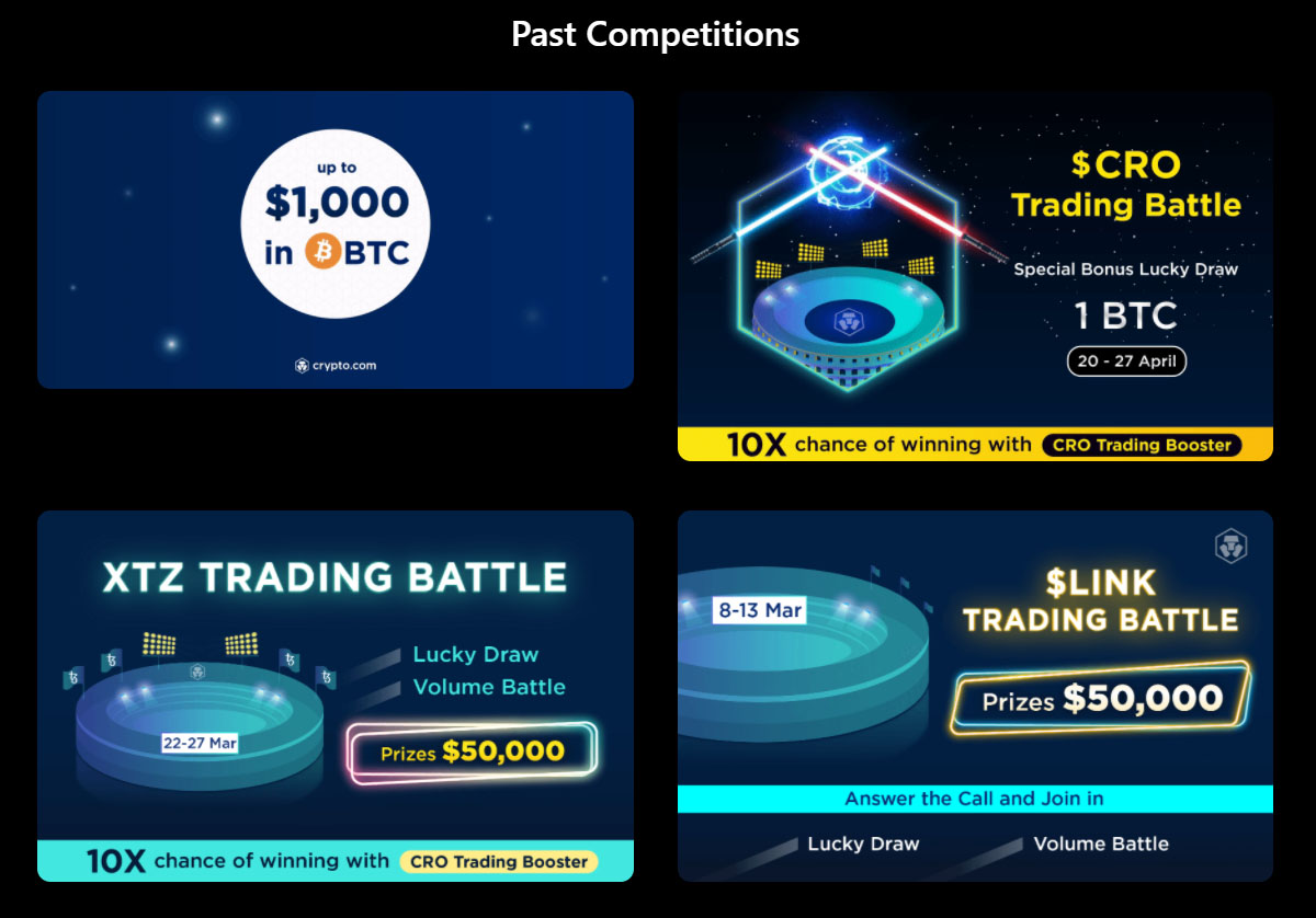 Crypto.com Exchange competitions