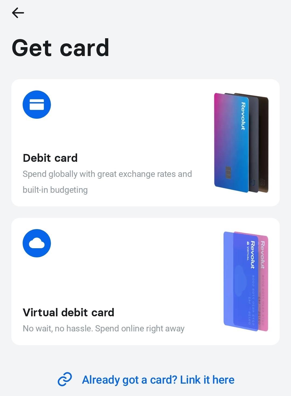 revolut payment card