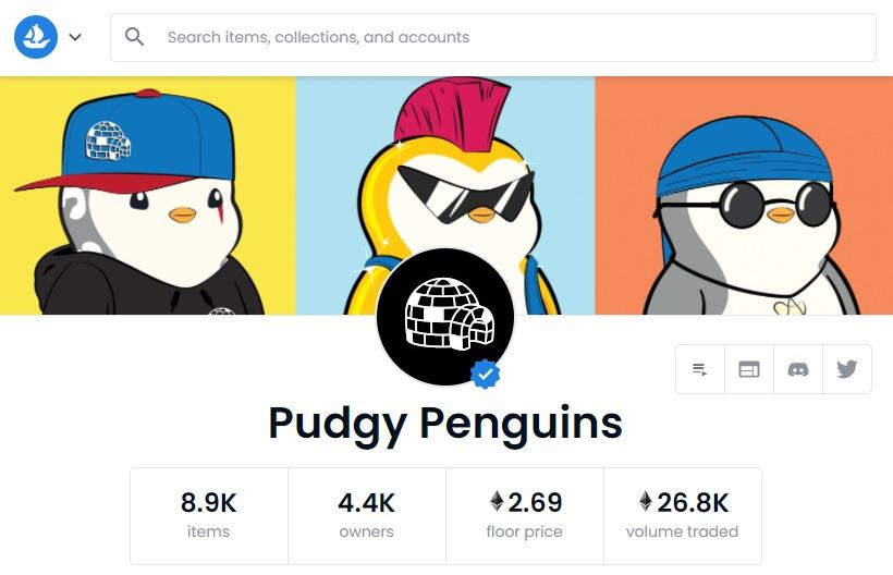 opensea-pudgy-penguins